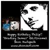 """BRADLEY JAMES"" ~ WITH HIS 'HAPPY BIRTHDAY' OWNER"