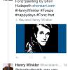 "HENRY WINKLER ""THE FONZ"" (HAPPY DAYS) ~ TWEETING ABOUT HIS FONDNESS FOR THE PORTRAIT I DID OF HIM"