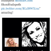 POP / BROADWAY STAR DEBBIE GIBSON TWEETING ABOUT MY PAINTING OF HER~ :-)
