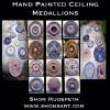 HAND PAINTED CEILING MEDALLIONS BY SHON HUDSPETH ~ FRANKLIN, TN