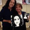 "DAWN WELLS - ""MARY ANN / GILLIGAN'S ISLAND"" WITH HER PAINTINGS"