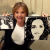 "DAWN WELLS (""MARY ANN' / GILLIGAN'S ISLAND) ~ WITH HER ""DAWN"" AND ""MARY ANN AND GINGER"" PAINTINGS"
