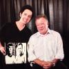 "WILLIAM SHATNER WITH HIS ""STAR TREK - MR. SPOCK AND CAPTAIN KIRK"" PAINTING"