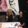 "BARBARA EDEN EXCITED TO RECEIVE HER "" I DREAM OF JEANNIE PAINTING"