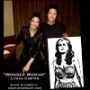 """WONDER WOMAN"" - LYNDA CARTER WITH HER PAINTING"