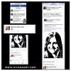 """MARCIA BRADY"" MAUREEN MCCORMICK LIKING MY PAINTING OF HER ON HER FACEBOOK PAGE."