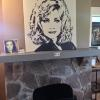 "MY ""BARBARA MANDRELL"" PAINTING ON DISPLAY AT THE FONTANEL, WHITES CREEK, TN"